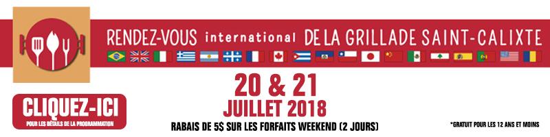 RDV INTERNATIONAL DE LA GRILLADE DE SAINT-CALIXTE 2018