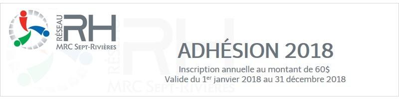 ADHÉSION RÉSEAU RH 2018