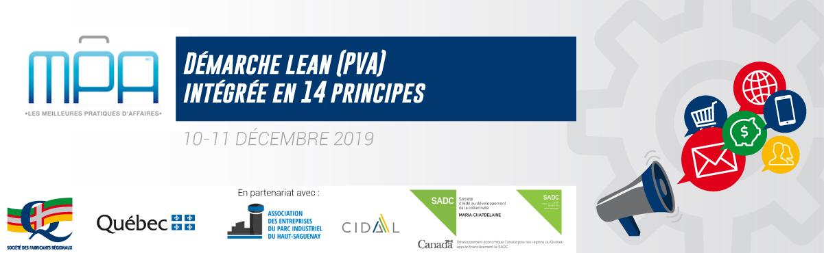 MPA - Démarche Lean (PVA) intégrée en 14 principes