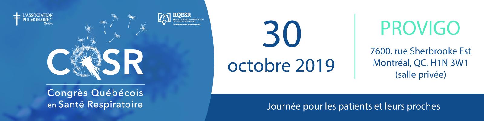 Journée patient - CQSR 2019